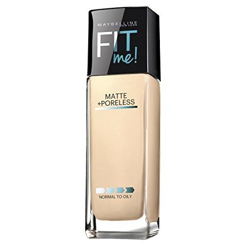 Maybelline Makeup Fit Me Matte + Poreless Liquid Foundation Makeup, Porecelain Shade, 1 fl oz