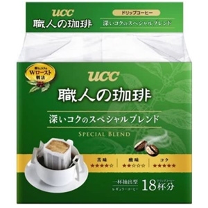 UCC 职人滴漏滤泡式挂耳咖啡粉 18袋