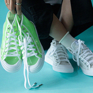 Adidas Originals Nizza果冻透明女款高帮鞋