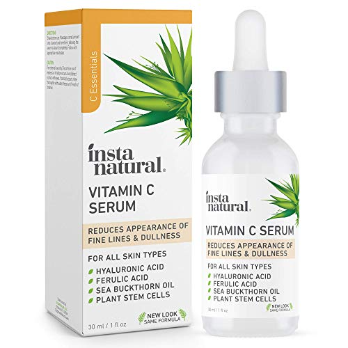 InstaNatural Vitamin C Serum with Hyaluronic Acid & Vit E - Natural & Organic Anti Wrinkle Reducer Formula for Face - Dark Circle, Fine Line & Sun Damage Corrector - 1 oz
