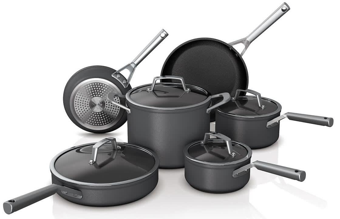 Ninja Foodi NeverStick Premium Hard Anodizes 10-Piece Cookware Set