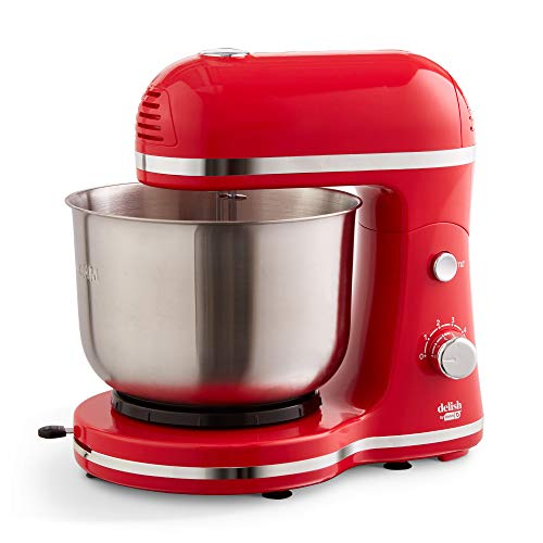 Delish by DASH Compact Stand Mixer 3.5 Quart with Beaters & Dough Hooks Included