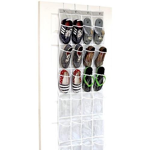 SimpleHouseware透明挂门鞋袋, 24个