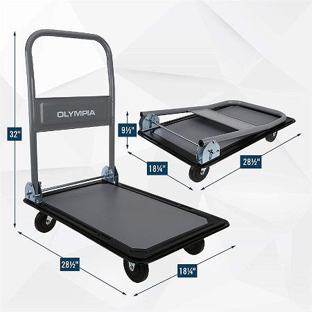 史低价!Olympia Tools 可折叠 平板推车,可载重330磅