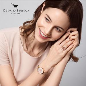 降价!Olivia Burton 女士3D小雏菊时尚腕表