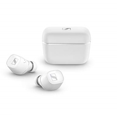 Sennheiser CX 400BT True Wireless Earbuds - Bluetooth in-Ear Headphones for Music and Calls - with Noise Cancellation and Customizable Touch Controls, White