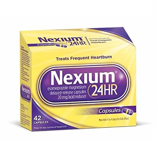 胃病救星!史低价!Nexium 耐信 埃索美拉唑镁肠溶胶囊,42粒
