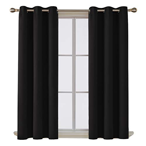 Deconovo Room Darkening Thermal Insulated Blackout Grommet Window Curtain