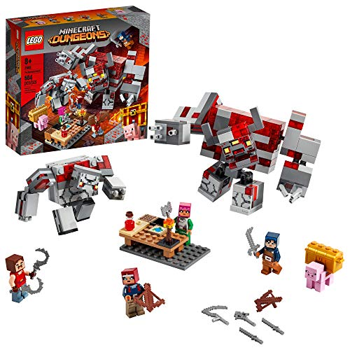 LEGO Minecraft The Redstone Battle 21163 Cool Minecraft Set for Kids Aged 8 and Up, Great Birthday Gift for Minecraft Players and Fans of Monsters, Dungeons and Battle Action, 504 Pieces