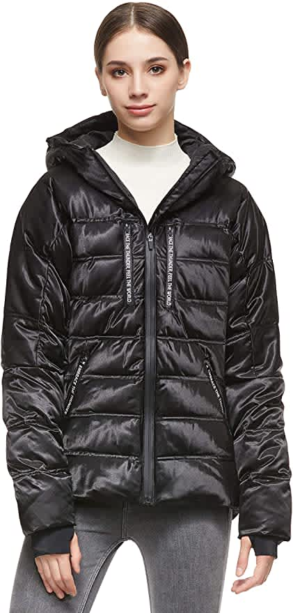 Orolay Women's Down Quilted Hooded Jacket