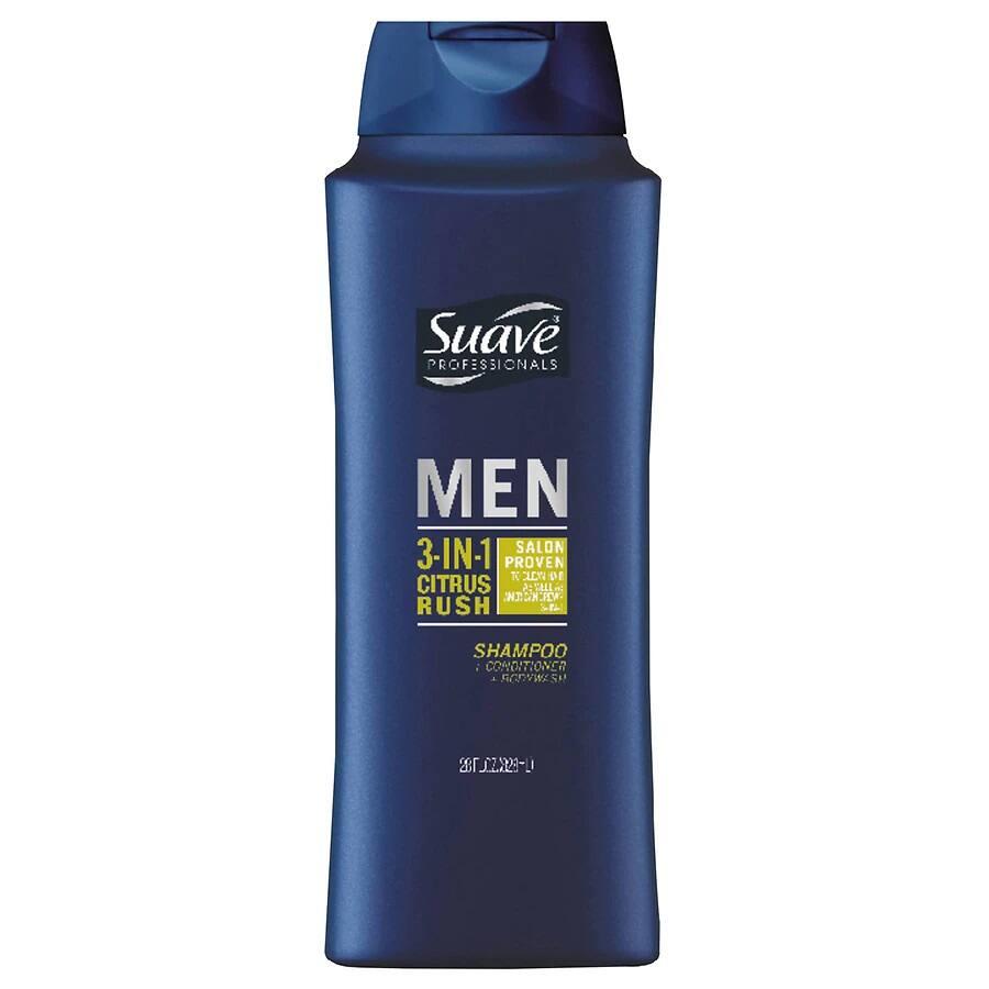 28oz Suave Men 3-in-1 Shampoo, Conditioner & Body Wash