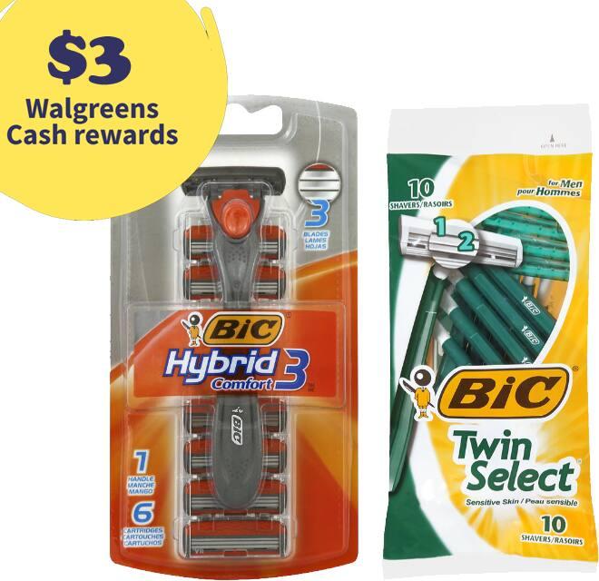 BIC Men's Hybrid Disposable Razor + 10-Ct Disposable Razors + $3 Rewards