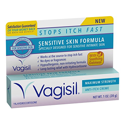 Vagisil Maximum Strength Anti-Itch Creme, Sensitive Skin Formula 1 Oz