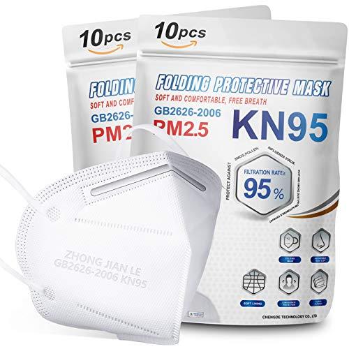 防疫硬需!相当白菜!KN95口罩(20个),被纳入FDA EUA清单,5层杯式,防尘防PM2.5,白色