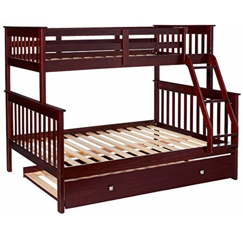 史低价!Donco Kids  超实用  三层 儿童床,Twin+Full + Twin尺码