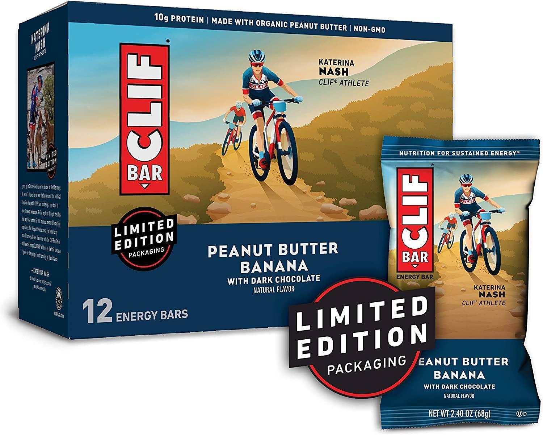 12-Pk 2.4-Oz Clif Bar Energy Bars (Peanut Butter Banana w/ Dark Chocolate)