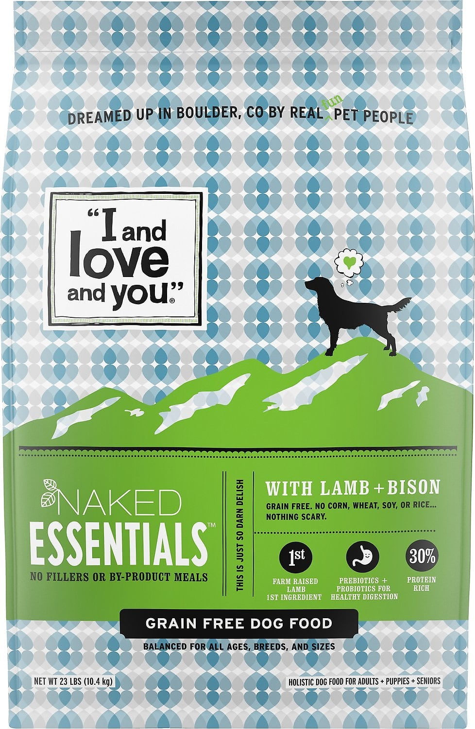 40-Lb I and Love and You Naked Essentials Grain-Free Dry Dog Food (Lamb & Bison)