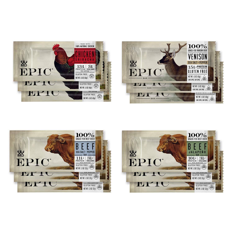 12-Pack 1.5-Oz EPIC Jerky Bars (Variety Pack)