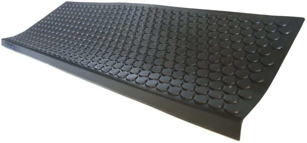 "Rubber-Cal ""Coin-Grip Non-Slip Rubber Tread Stair Mats 6-Pack"