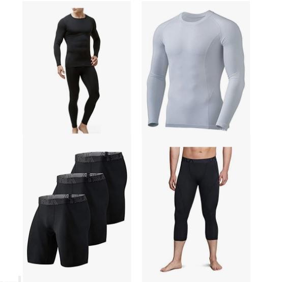 金盒特价!TSLA  保暖运动压缩衣/裤促销!