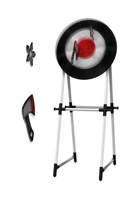 Saddlebred Axe and Throwing Star Target Set