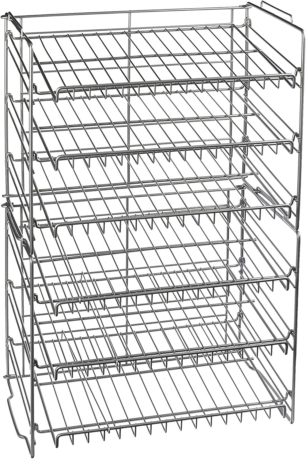 Atlantic Steel 6-Tier Gravity-Fed Double Can Rack