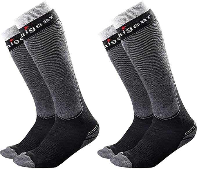 Unigear Unisex Merino Wool Warm Ski Socks 2-Pack
