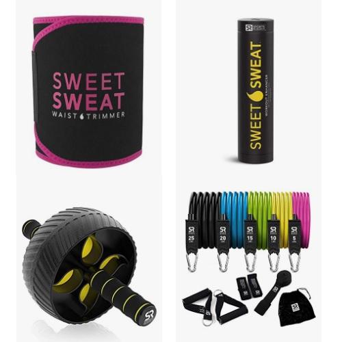 金盒特价!Amazon精选 Sweet Sweat 健身产品大促销!