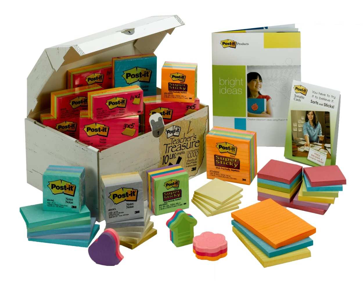 Post-it Notes 10-lb. Treasure Chest Value Pack