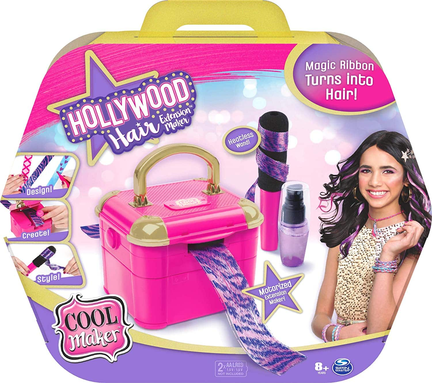 Cool Maker Hollywood Hair Extension Maker w/ 12 Customizable Extensions