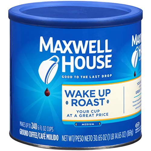 Maxwell House Wake Up Roast Medium Roast Ground Coffee (30.65 oz Canister)