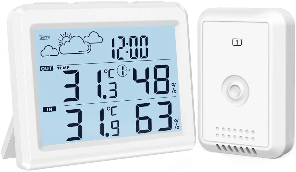 Oria Indoor Outdoor Digital Wireless Weather Station