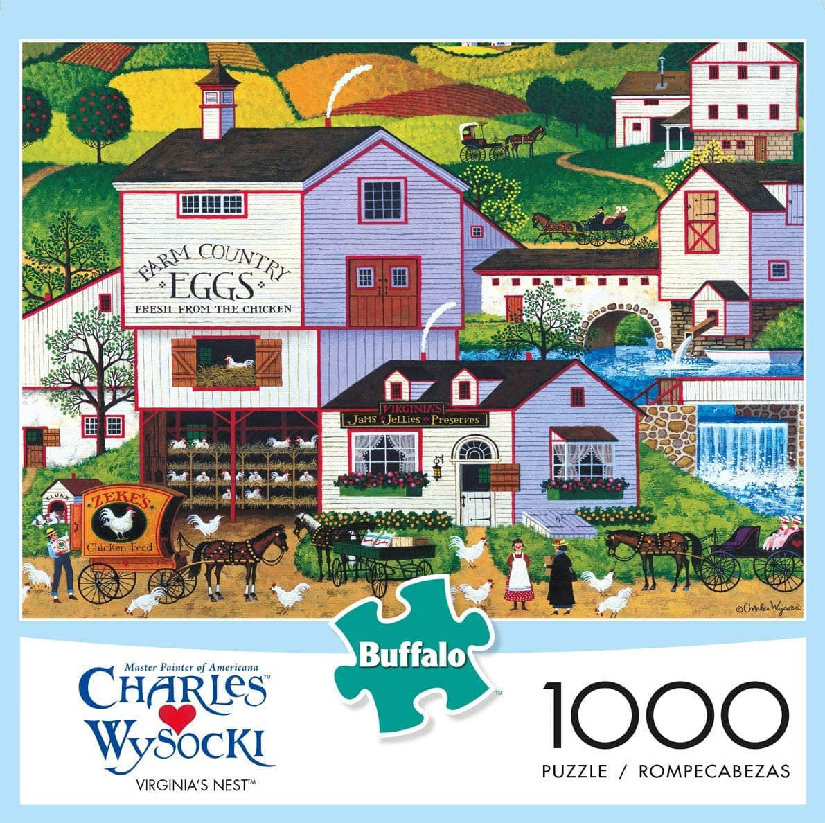 1,000-Pc Buffalo Games Charles Wysocki Virginia's Nest Jigsaw Puzzle