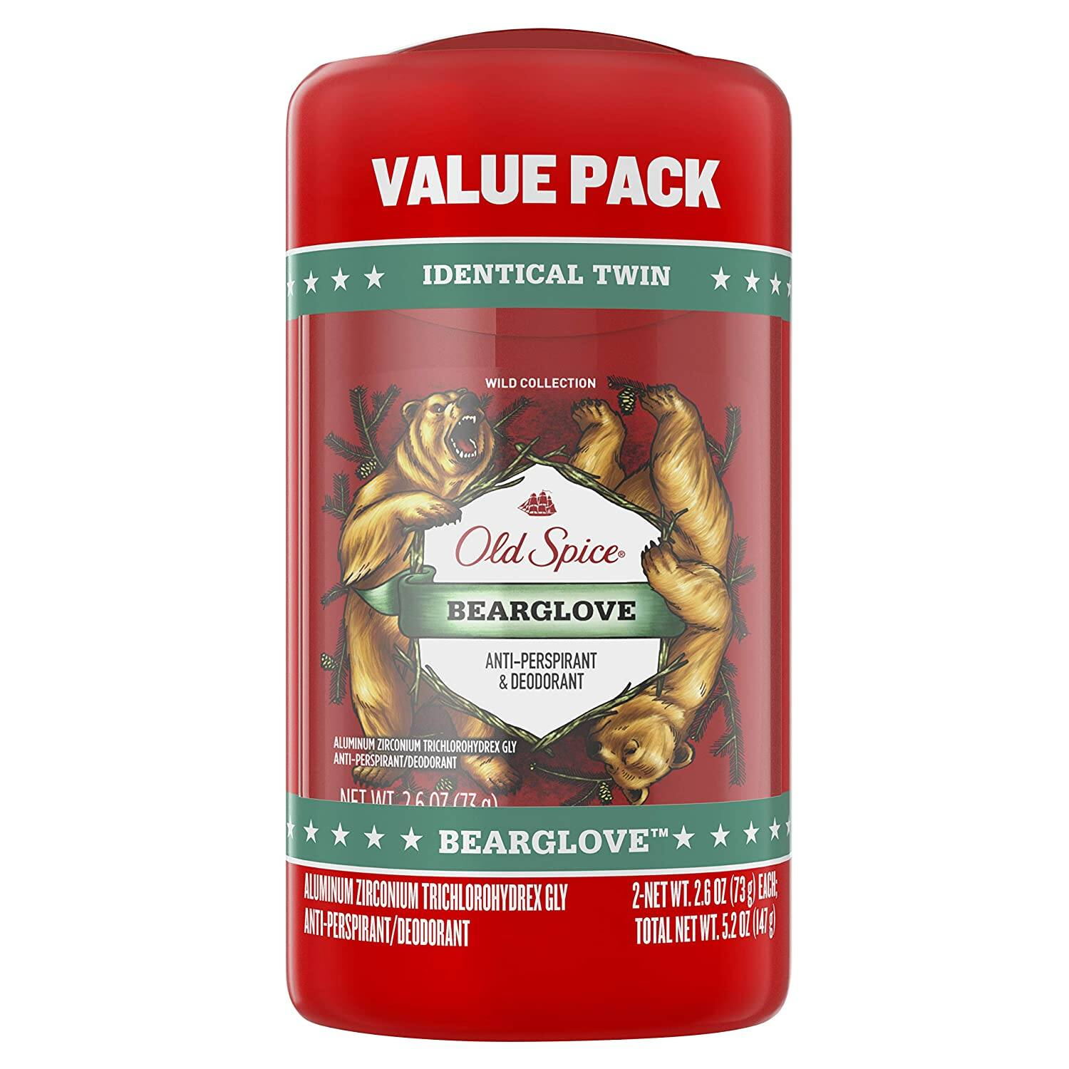 2-Count 2.6-Oz Old Spice Antiperspirant & Deodorant (Bearglove)