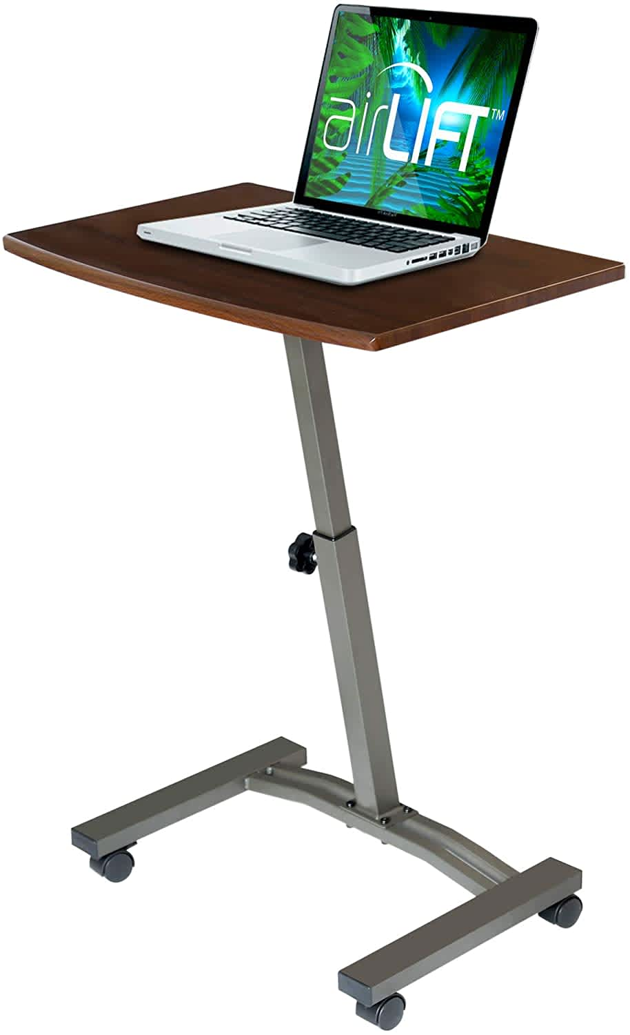 "Seville Classics Airlift 23.6"" Height-Adjustable Mobile Laptop Desk Cart"