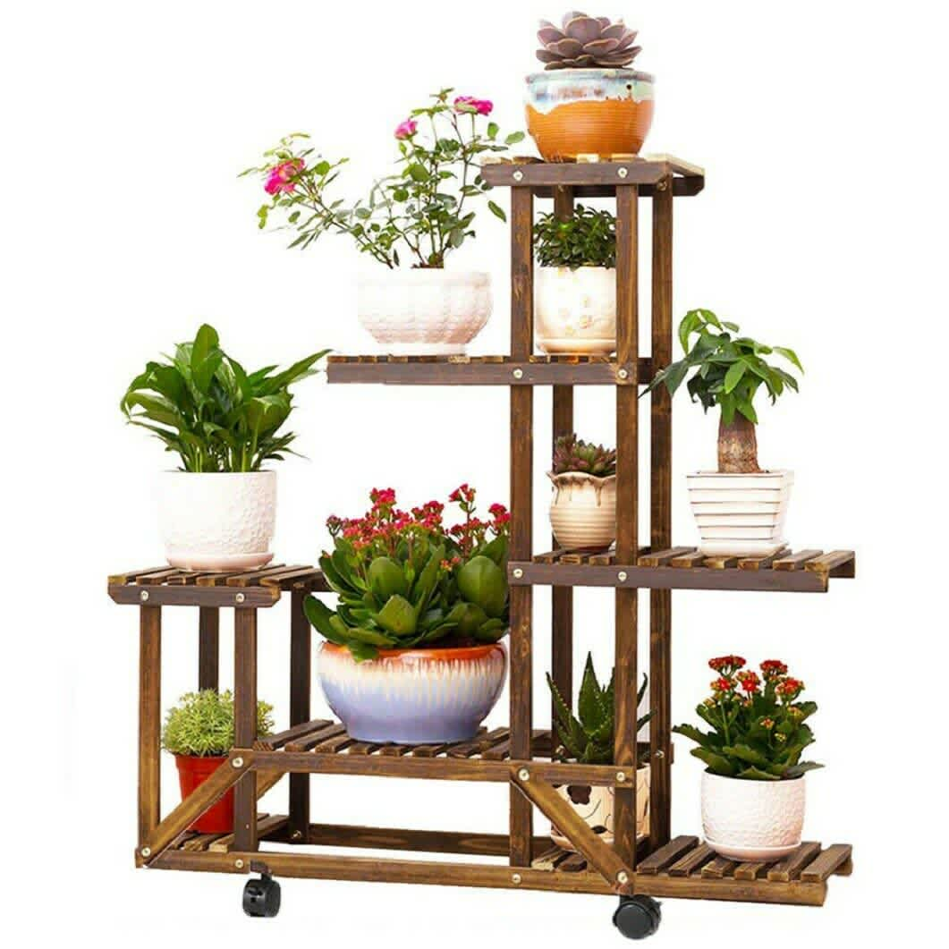6-Tier Wood Plant Stand