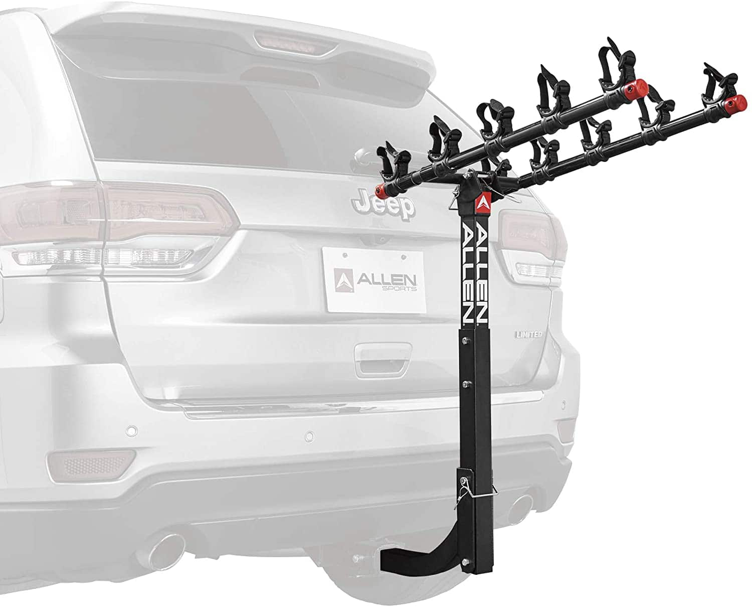 "Allen Sports Deluxe 5-Bike Hitch Rack Carrier for 2"" Hitch"