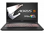 "Gigabyte Aorus 5 15.6"" 144Hz Gaming Laptop (i7-10750H 16GB 512GB SSD RTX 2060)"