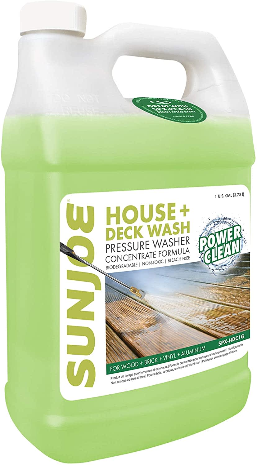 Sun Joe House & Deck Pressure Washer Concentrated Cleaner 1-Gallon Jug