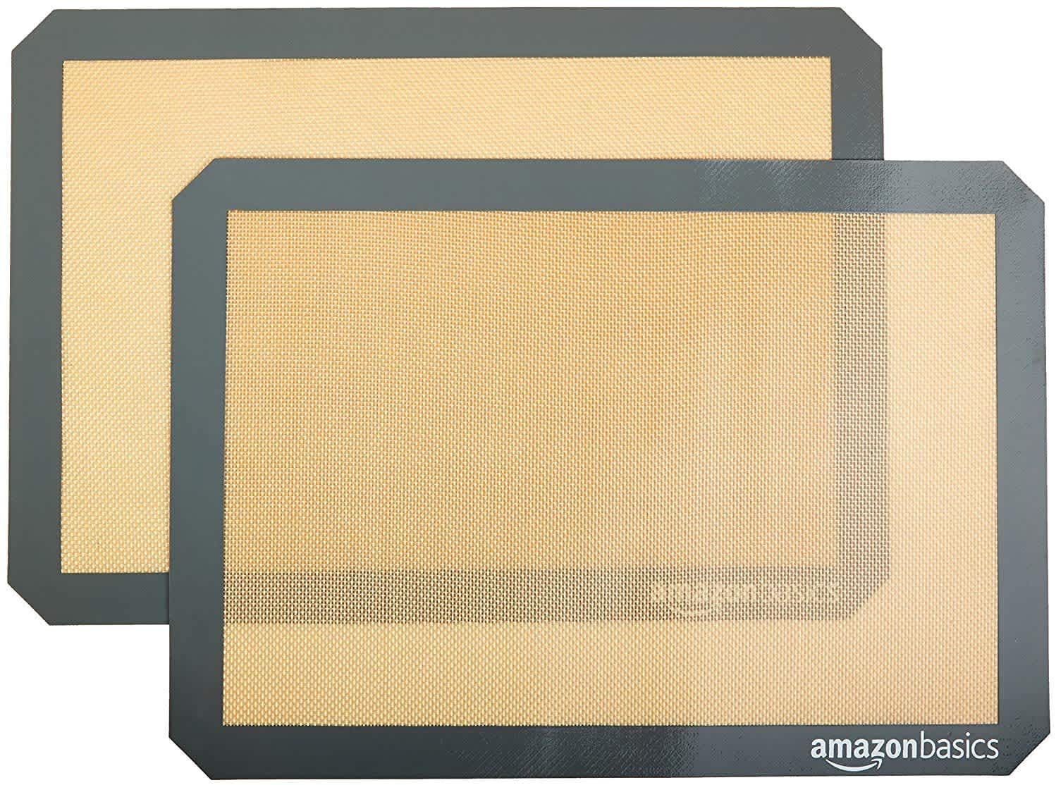 AmazonBasics Silicone Baking Mat Sheet 2-Pack