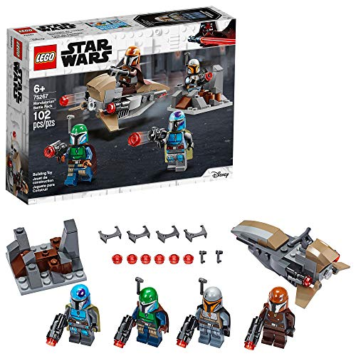 LEGO Star Wars Mandalorian Battle Pack 75267 Mandalorian Shock Troopers and Speeder Bike Building Kit; Great Gift Idea for Any Fan of Star Wars: The Mandalorian TV Series,  102 Pieces