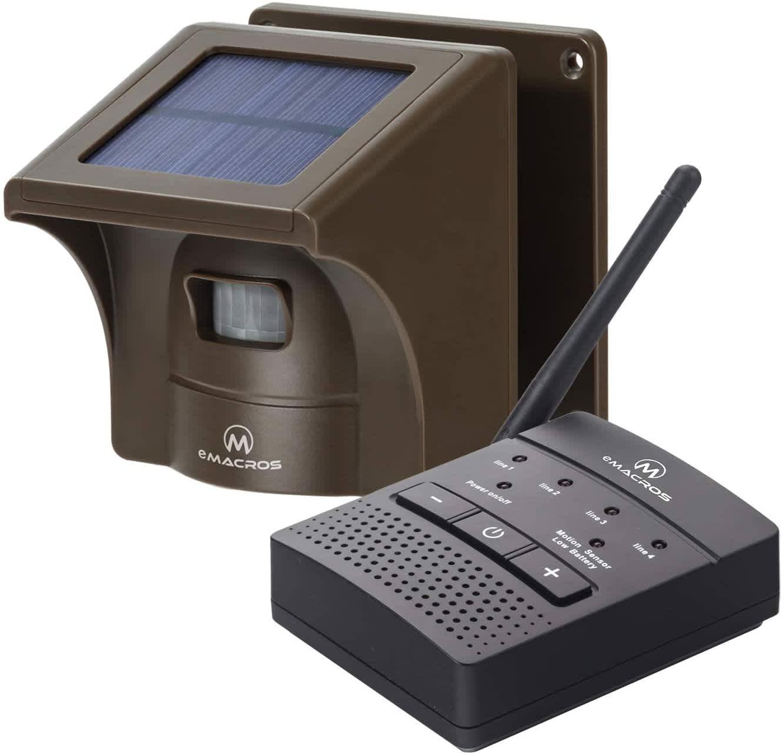 eMacros 1/2-Mile Solar Driveway Alarm System