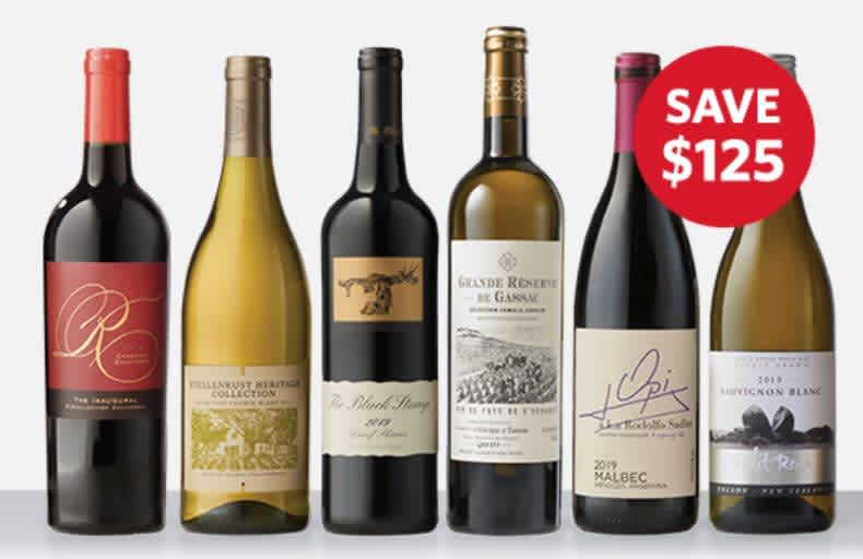 WSJwine Top Wines to Try Deal: 6 + 2 Bottles of Wine w/ 2 Glasses