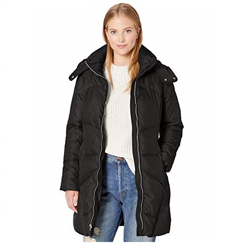Cole Haan womens Hooded Essential Down Coat