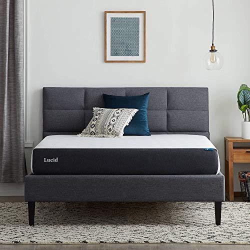 史低价!LUCID 8吋厚度记忆棉海绵床垫,Queen尺码