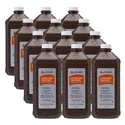 居家必备! Swan 消毒双氧水,32 oz/瓶,共12瓶