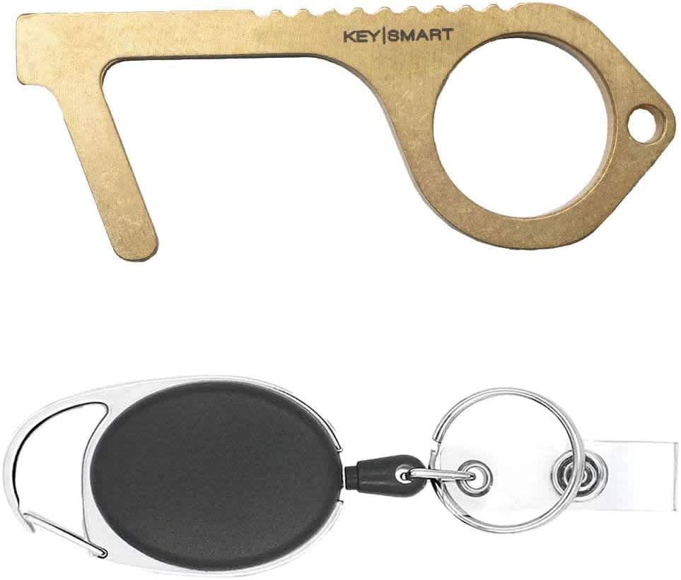 KeySmart CleanKey Antimicrobial Brass Hand Tool