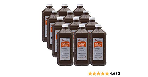12-Pack 32oz SWAN 3% Hydrogen Peroxide Topical Solution First Aid Antiseptic