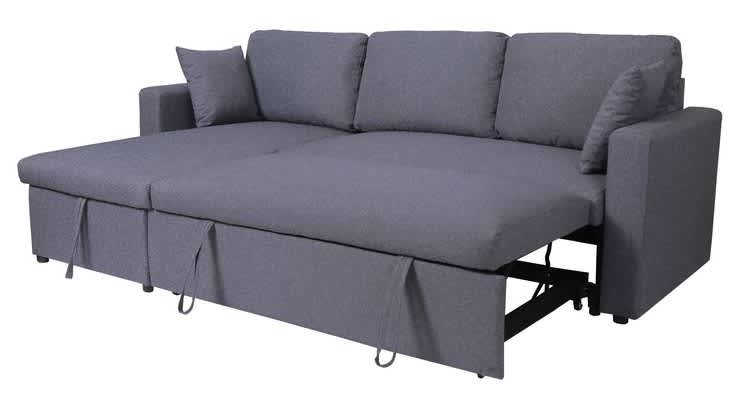 "Ebern Designs Erric 57"" Sleeper Sofa and Chaise"