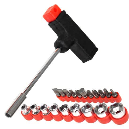 22-Piece T-Shaped Handle Socket Set